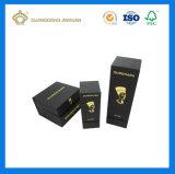 Casella dorata bianca del profumo del cartone della stagnola di marchio della stuoia di lusso (con il cassetto interno)