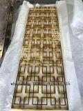 Écran matériel en métal de panneaux de mur d'acier inoxydable de décoration pour des partitions de restaurant