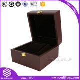 Fournisseur en cuir fabriqué à la main fait sur commande à extrémité élevé de boîte-cadeau de bijou