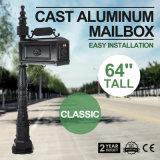""""""" rectángulo postal de Mailboxs 64 de la caja clásica de la fundición de aluminio"""