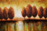 Pitture a olio astratte variopinte dell'albero