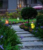 Indicatore luminoso solare di notte del prodotto del vaso di figura di via di vetro popolare del giardino