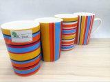 T-Tipo taza de cerámica con 7 rayas del color