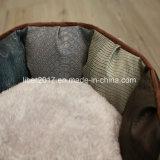 호화스러운 가죽 둥근 애완 동물 제품 침대 개 고양이 침구 소파 베드