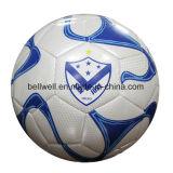 Balones de fútbol suaves baratos de Sititched de la máquina de la PU de la promoción
