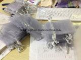 灰色の銀製のJewellryのオーガンザのギフト袋