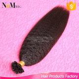 Cabelo peruano da ponta da queratina U 1 grama cada cabelo reto Kinky peruano do Virgin da extensão do cabelo humano da fusão da ponta do prego da costa