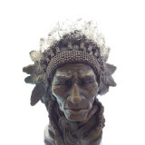 Büste Bronze-Skulptur indische Leiter Metal Crafts Messing Statue Tpy-922