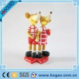 Polyresin Cartoon Wedding Love Mouse Figurine como presentes