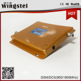 Aumentador de presión móvil dual de la señal de la venda GSM/Dcs 900/1800MHz de la alta calidad con el LCD