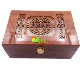 Классицистическая красная деревянная люкс коробка подарка упаковки чая или вина