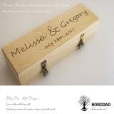 Hongdao personalizou o presente de madeira Box_E do vinho da cor natural Handmade