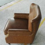 Стул цвета табака кожаный, стул клуба сигары, стул гостиницы (A888)