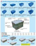 Caixa de escaninho plástica coberta para o armazém, fábrica, transporte