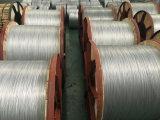 Fio de aço folheado de alumínio de cabo distribuidor de corrente no cilindro de madeira do ferro
