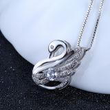 Ожерелье милого лебедя стерлингового серебра женщин 925 форменный привесное