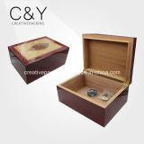 나무로 되는 시가 박스 담배 저장 상자이라고 상표가 붙는 높은 광택 완료