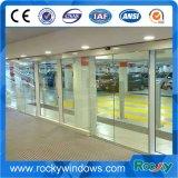 Bâti commercial ou portes coulissantes de détecteur en aluminium automatique de Frameless