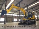 Yuchaiエンジンを搭載する高速新しく黄色く小さいクローラー掘削機