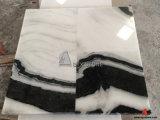 Mattonelle di marmo bianche del panda con le vene nere per la parete, pavimento