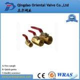 Vávula de bola de cobre amarillo con el extremo manual de calidad superior de la unión de la entrerrosca precio bajo de 2 pulgadas para el petróleo