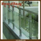 ステアケースの壁の台紙(SJ-H051)のためのステンレス鋼のガラス柵