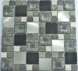 mosaico de cristal mezclado de metal de vidrio para decoración de la pared