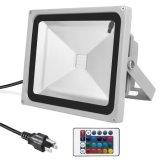 Reflector al aire libre 100W RGB LED con cambio de color de las luces de seguridad a prueba de agua