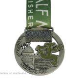 Personalizzato 2014 3D Sport Running Marathon Medal con Ribbon