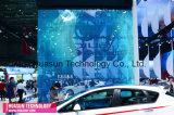 Pantalla de la publicidad al aire libre LED/fachada transparentes de la decoración/del edificio