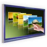 55-Inch, das LCD-Panel-Digitalanzeigen-an der Wand befestigten Bildschirm-Monitor-Kiosk bekanntmacht