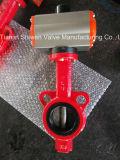 2 Zoll-Oblate-Drosselventil mit pneumatischem Stellzylinder