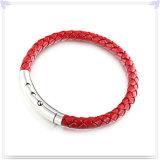 De Armband van het Leer van de Juwelen van het roestvrij staal voor de Juwelen van het Leer (LB054)