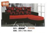 Sofá moderno da tela da dimensão pequena grande das vendas (890B)