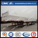 Cimc Huajun 3axle Gooseneck Fence/Cargo Semi Trailer mit Side Wall