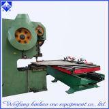 Punzonadora del CNC del orificio del metal de hoja de Weifang Jinhao con la plataforma que introduce