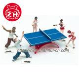 Plastikabbildung Tischtennis-Sport-Abbildung. PVC-Spielwaren
