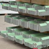 La tuile de toiture en acier ondulée de zinc/a enduit la feuille de toiture en métal de Gi