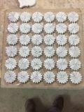 Плитка мозаики мрамора белого цветка