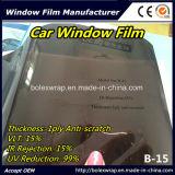 スクラッチ抵抗力がある5% 15% 25% 45% Vlt付着力の日曜日制御1ply車の窓のフィルム、車の窓の色合いのフィルム
