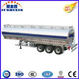 3 de l'essieu 45cbm d'alliage d'aluminium d'essence d'essence d'essence de pétrolier remorque diesel semi avec un compartiment