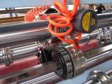 Marcador fino de la cortadora de la lámina que hace la máquina