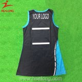 Inteiramente uniforme em branco Sublimated tintura do Netball