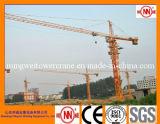 Crescimento do guindaste de torre Qtz63 de Mingwei 5tons Tc5012-with 50m/carga do competidor da ponta: 1.2t