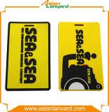 Heißes Verkaufs-buntes Firmenzeichen-weiche Gepäck-Marke