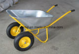 Wheelbarrow pneumático dobro durável das rodas do Sell quente (Wb6410)
