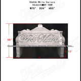 De witte Stoel van Carrara voor Decoratie mbt-109 van het Huis