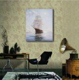 装飾の絵画の航行ボート
