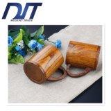Творческая чашка древесины метки плоского дна высокого качества