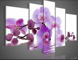 현대 추상적인 꽃 장식적인 유화, 거실 벽 예술 회화 그림, 고품질 손으로 그리는 칼 회화